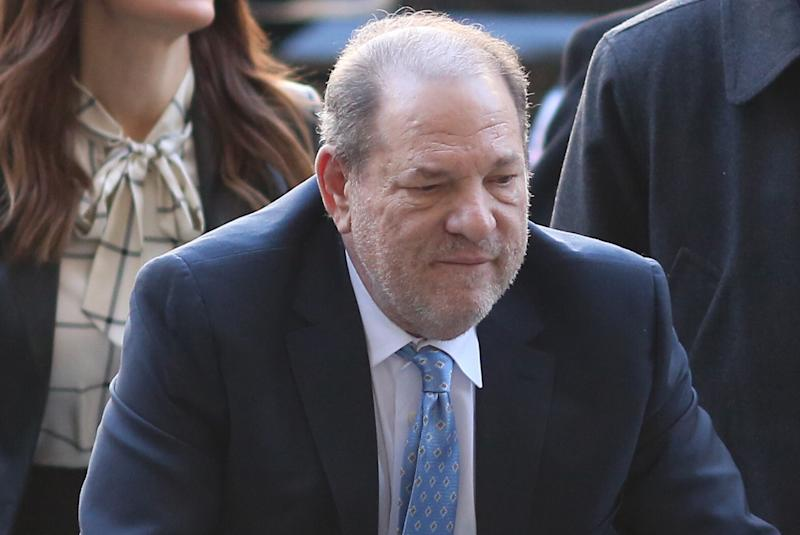 Harvey Weinstein transferred back to Bellevue hospital for chest pains after sentencing.