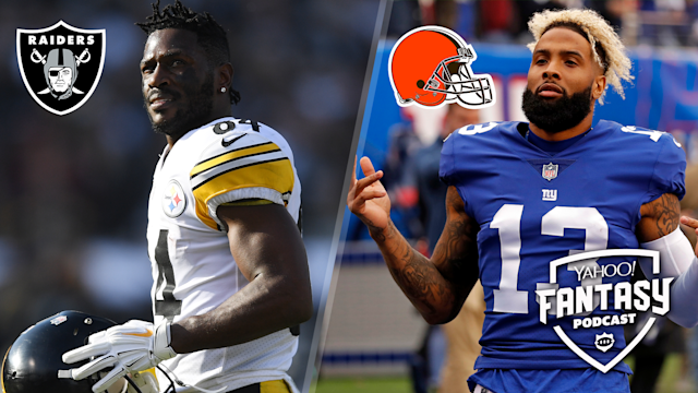 In a week full of important free agency signings, the Antonio Brown and Odell Beckham, Jr. trades stood out. (Getty Images [L], AP [R])