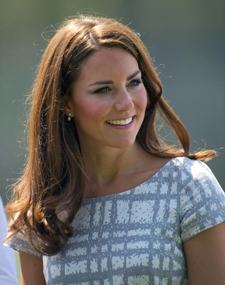 LONDON, UNITED KINGDOM - JULY 26: Catherine, Duchess of Cambridge visits Bacon's College on July 26, 2012 in London, England. (Photo by Indigo-Pool/Getty Images)