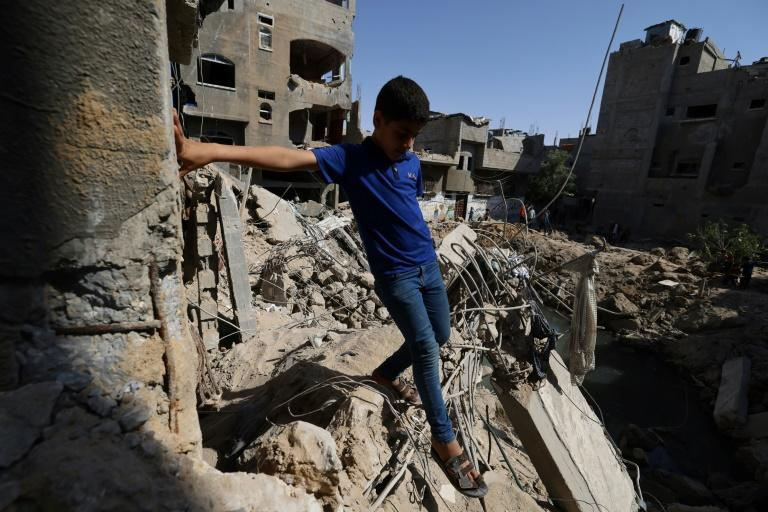 Rescuers in Gaza said they were working with meagre resources to help any survivors under the rubble