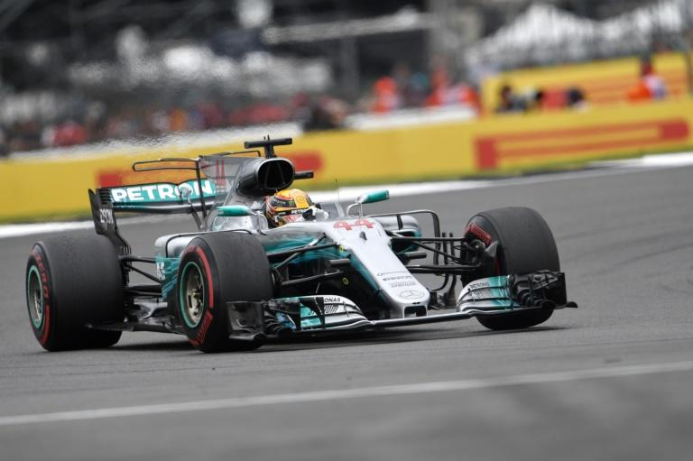 Mercedes' British driver Lewis Hamilton drives during the British Formula One Grand Prix at the Silverstone motor racing circuit in Silverstone, central England on July 16, 2017