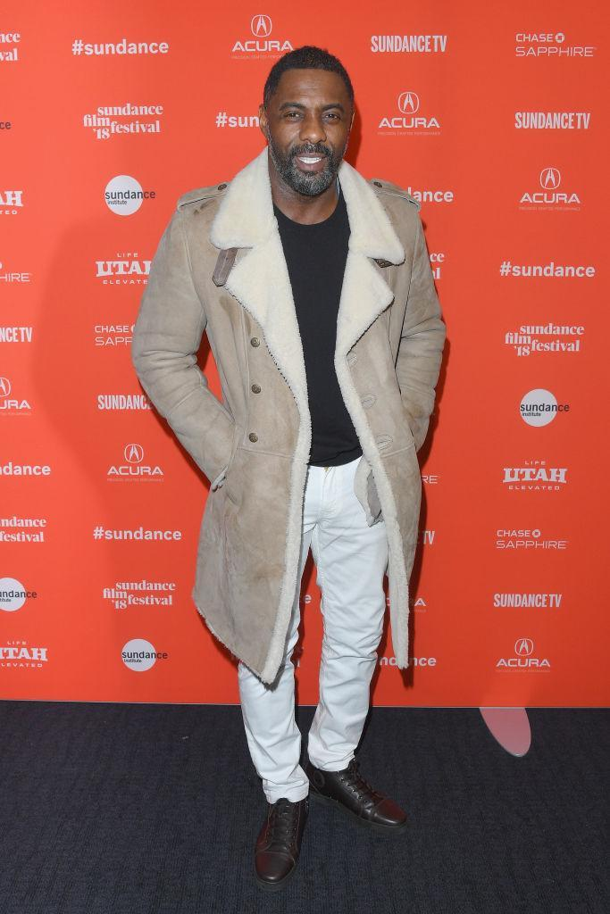 "<p>Idris Elba attends the ""Yardie"" premiere during the 2018 Sundance Film Festival wearing a shearling coat at the Ray on Jan. 20, 2018, in Park City, Utah. (Photo: Getty Images) </p>"