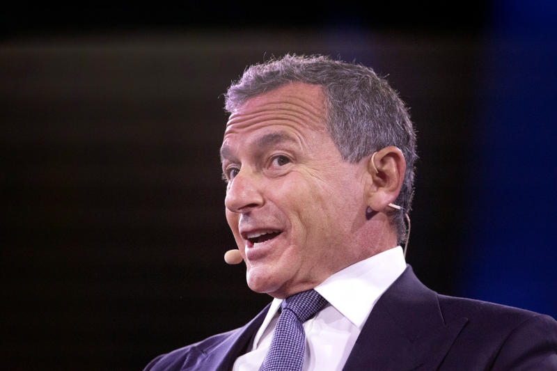 Bob Iger, Chairman and CEO of Walt Disney, speaks at the Bloomberg Global Business Forum, Wednesday, Sept. 25, 2019, in New York. (AP Photo/Mark Lennihan)