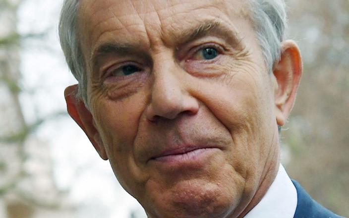 Tony Blair has called for people to be given just one Covid-19 vaccine dose to speed up roll out - ANDY RAIN/EPA-EFE/Shutterstock