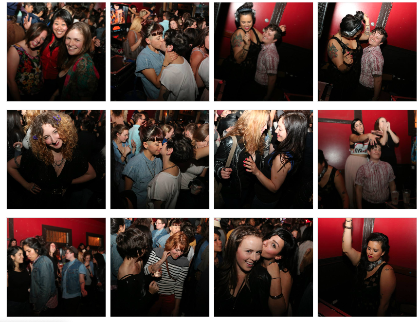 Scenes from the Lexington Club, in San Francisco, before it closed in 2014. (Screenshot photos: Facebook/Lexington Club)