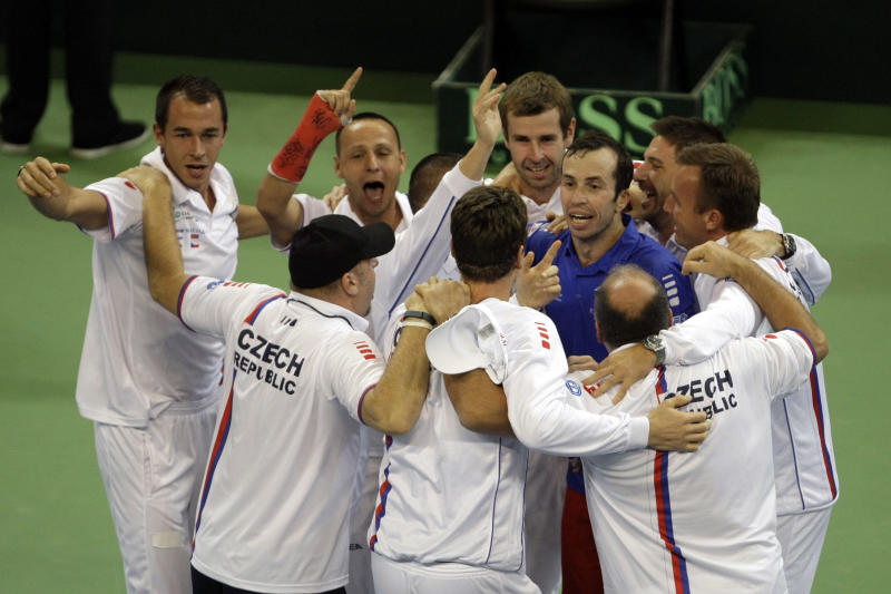 Czech Republic retains Davis Cup title vs Serbia