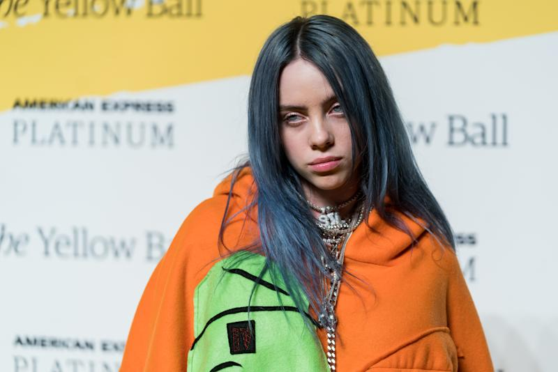 NEW YORK, NY - SEPTEMBER 10: Singer Billie Eilish attends the Yellow Ball at the Brooklyn Museum on September 10, 2018 in New York City. (Photo by Mark Sagliocco/WireImage,)