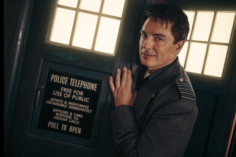 John Barrowman as Captain Jack Harkness - Doctor Who: Revolution of the Daleks (Credit: James Pardon/BBC)