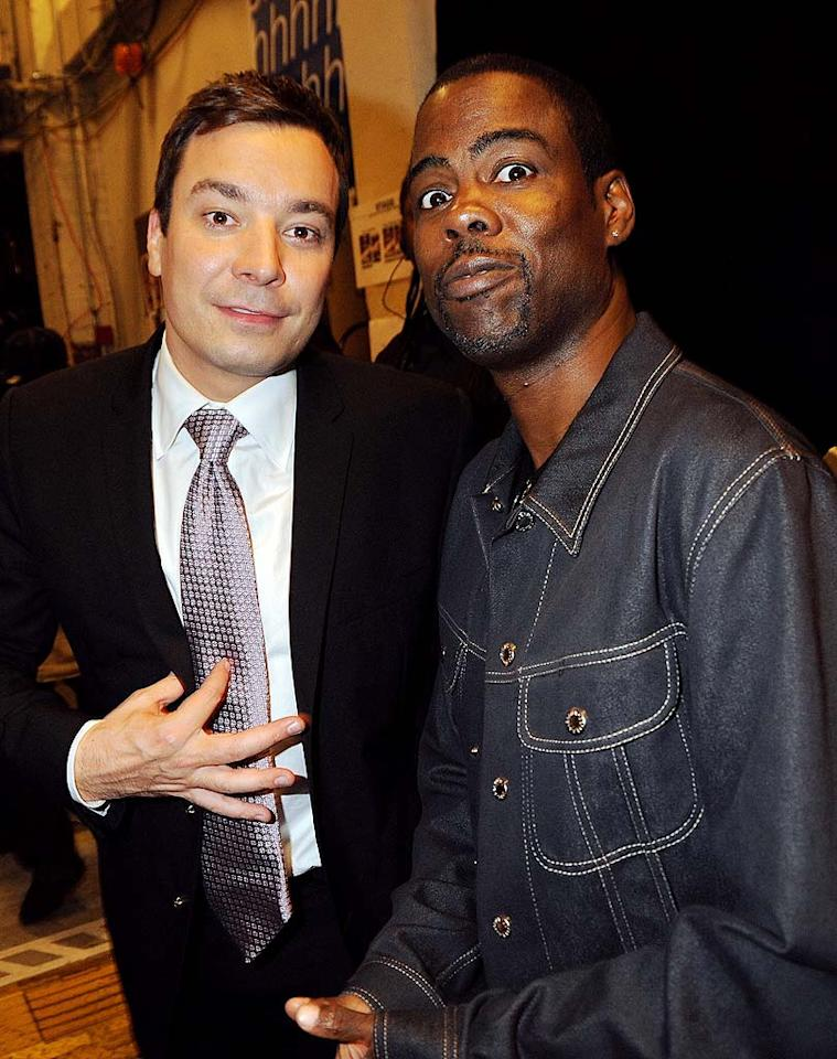 "Comedians Jimmy Fallon and Chris Rock both performed on the show, which will air October 13 at 9 p.m. on VH1. Jeff Kravitz/<a href=""http://www.filmmagic.com/"" target=""new"">FilmMagic.com</a> - September 23, 2009"