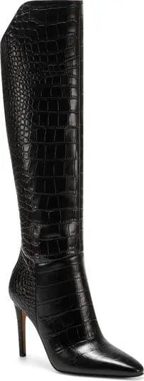 <p>Anyone who's heading back to the office needs these <span>Vince Camuto Fenindy Knee High Boots</span> ($229), stat. The faux embossed detailing and generous heel practically ooze boss vibes. </p>