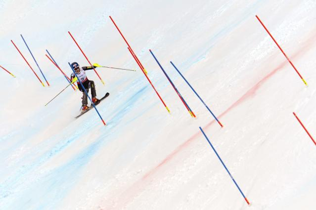 SCHLADMING, AUSTRIA - FEBRUARY 16: (FRANCE OUT) Mikaela Shiffrin of the USA wins the gold medal during the Audi FIS Alpine Ski World Championships Women's Slalom on February 16, 2013 in Schladming, Austria. (Photo by Alain Grosclaude/Agence Zoom/Getty Images)