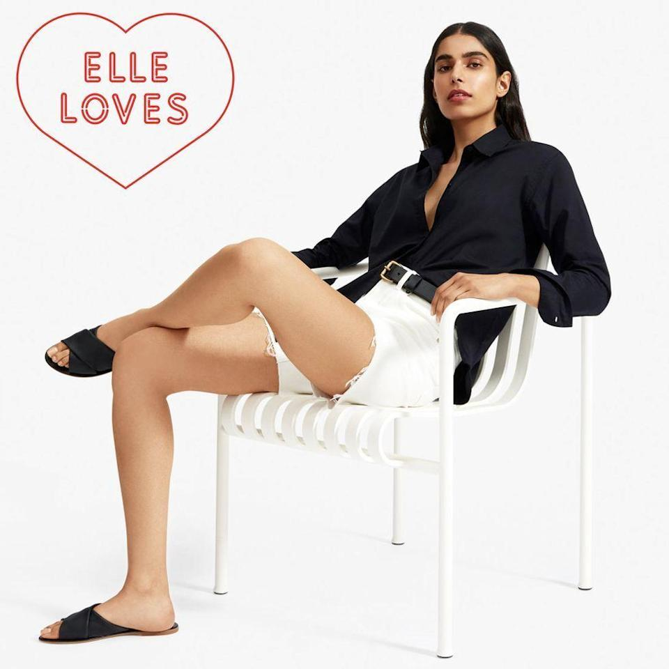 """<p><strong>everlane</strong></p><p>everlane.com</p><p><strong>$62.00</strong></p><p><a href=""""https://go.redirectingat.com?id=74968X1596630&url=https%3A%2F%2Fwww.everlane.com%2Fproducts%2Fwomens-crossover-sandal-black&sref=https%3A%2F%2Fwww.elle.com%2Ffashion%2Fshopping%2Fg33078428%2Fbest-elle-editor-product-reviews%2F"""" rel=""""nofollow noopener"""" target=""""_blank"""" data-ylk=""""slk:Shop Now"""" class=""""link rapid-noclick-resp"""">Shop Now</a></p><p>""""As far as summer sandals go, basics are annoyingly hard to come by without forking a half month's worth of rent. The simplest things are the hardest to design, but <a href=""""https://www.elle.com/fashion/shopping/a27404773/everlane-day-sandals-review/"""" rel=""""nofollow noopener"""" target=""""_blank"""" data-ylk=""""slk:Everlane's Day sandals"""" class=""""link rapid-noclick-resp"""">Everlane's Day sandals</a> address all of our concerns: they are made of sumptuous, double folded leather that reduces the chance of blistering, the straps are set a little wider and won't pinch your bunions, and its flexible sole will last you on day-full of sightseeing."""" <em>— Justine Carreon, market editor</em></p>"""