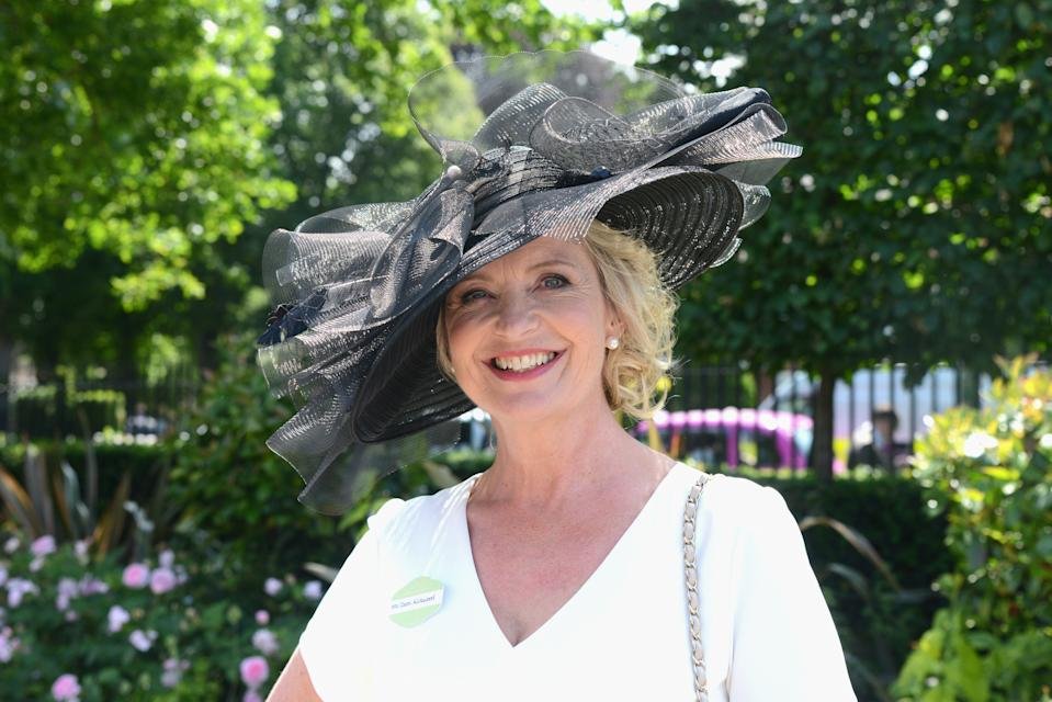 ASCOT, ENGLAND - JUNE 22:  Carol Kirkwood attends day 3 of Royal Ascot at Ascot Racecourse on June 22, 2017 in Ascot, England.  (Photo by Kirstin Sinclair/Getty Images for Ascot Racecourse)