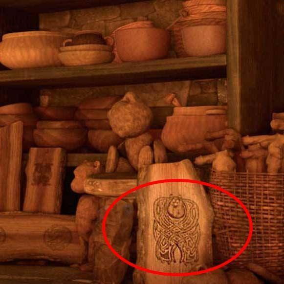 <p>In <em>Brave</em>, characters keep transforming into bears, and there's a lot of storytelling and lore about the grizzly creatures, so you'd be forgiven for thinking this wood carving is of a bear. Take a closer look, though, and you'll realize it's Sully from <em>Monsters, Inc.</em></p>