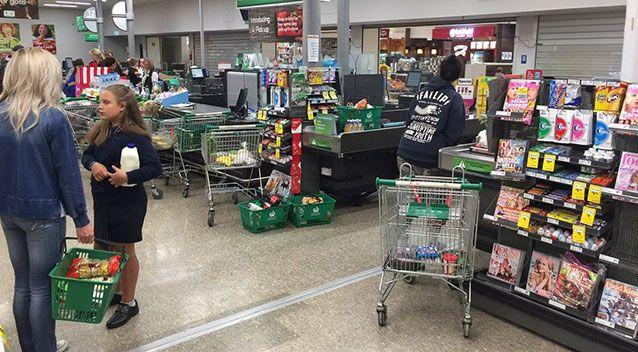 Shoppers have complained they haven't been able to buy their groceries. Source: Facebook