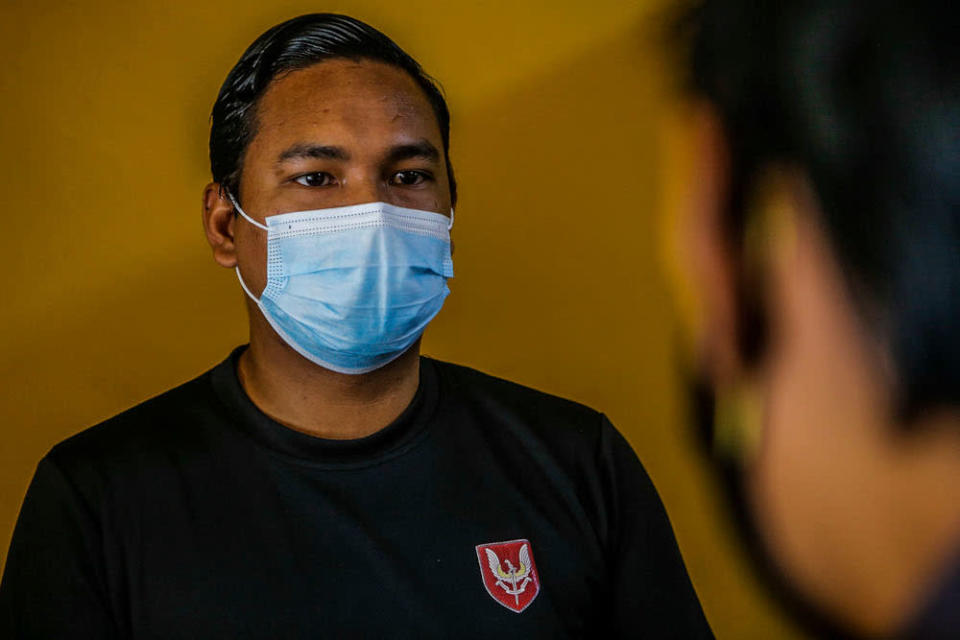Restaurant owner Hamizan Hashim, 28, speaks to Malay Mail during an interview at UTC Sentul July 2, 2020. — Picture by Hari Anggara