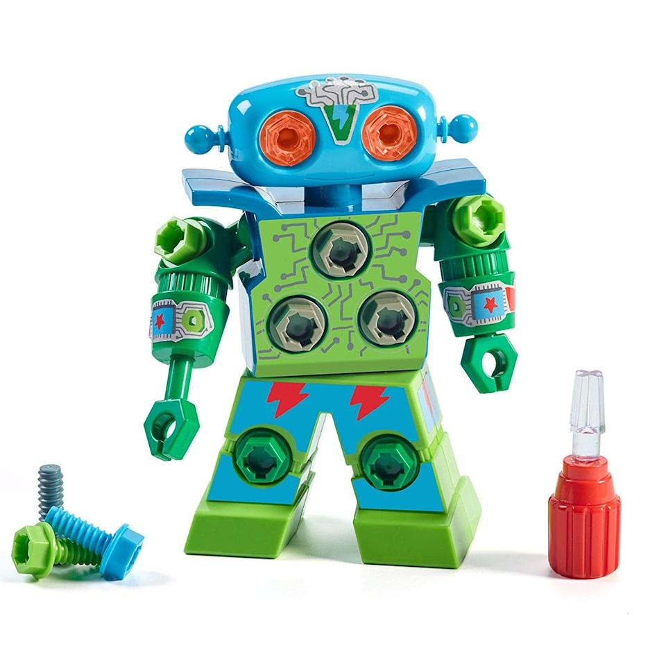 "<p>Featuring a kid-friendly screwdriver, this <a href=""https://www.popsugar.com/buy/Educational-Insights-Design-amp-Drill-Robot-116999?p_name=%20Educational%20Insights%20Design%20%26amp%3B%20Drill%20Robot&retailer=amazon.com&pid=116999&price=13&evar1=moms%3Aus&evar9=25800161&evar98=https%3A%2F%2Fwww.popsugar.com%2Fphoto-gallery%2F25800161%2Fimage%2F44870155%2FEducational-Insights-Design-Drill-Robot&list1=shopping%2Cgifts%2Choliday%2Cgift%20guide%2Cparenting%2Ckid%20activities%2Cgifts%20for%20kids%2Clittle%20kids%2Ckid%20shopping%2Choliday%20for%20kids%2Cgifts%20for%20toddlers%2Cbest%20of%202019&prop13=api&pdata=1"" class=""link rapid-noclick-resp"" rel=""nofollow noopener"" target=""_blank"" data-ylk=""slk:Educational Insights Design & Drill Robot""> Educational Insights Design & Drill Robot </a> ($13) teaches little ones how to build with multicolored bolts.</p>"