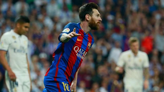 Lionel Messi set another Clasico record when he scored for the first time in seven matches against Real Madrid.