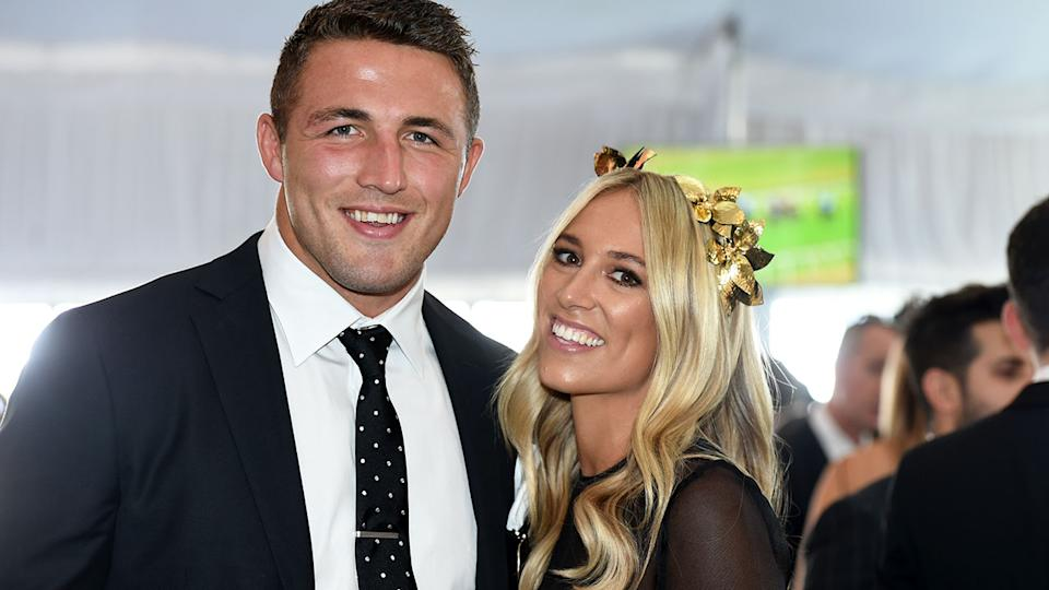 Seen here, former married couple Sam and Phoebe Burgess at a race day.