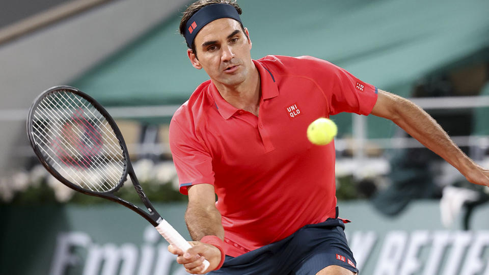 Roger Federer, pictured here in action during the third round of the French Open.