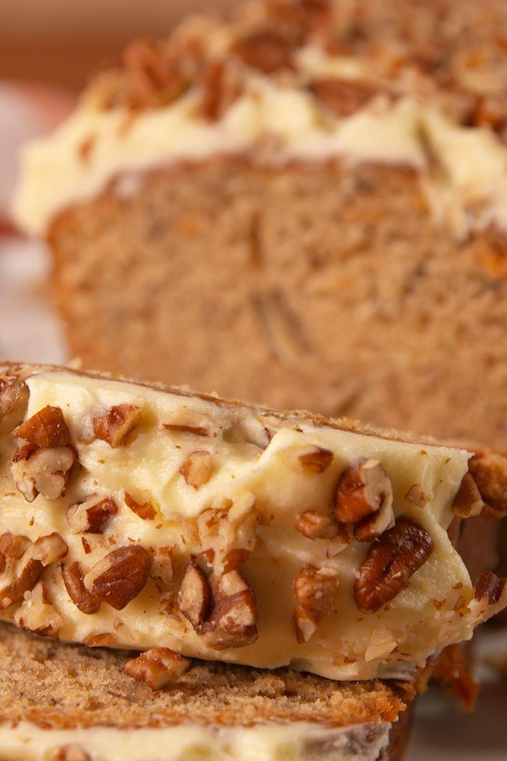 """<p>The best of both baking worlds.</p><p>Get the <a href=""""https://www.delish.com/uk/cooking/recipes/a28826709/carrot-cake-banana-bread-recipe/"""" rel=""""nofollow noopener"""" target=""""_blank"""" data-ylk=""""slk:Carrot Cake Banana Bread"""" class=""""link rapid-noclick-resp"""">Carrot Cake Banana Bread</a> recipe.</p>"""