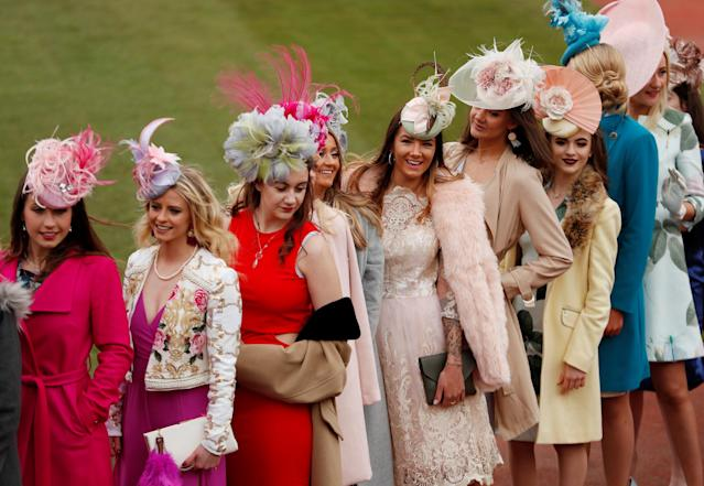 Horse Racing - Cheltenham Festival - Cheltenham Racecourse, Cheltenham, Britain - March 14, 2018 Racegoers before racing Action Images via Reuters/Andrew Boyers