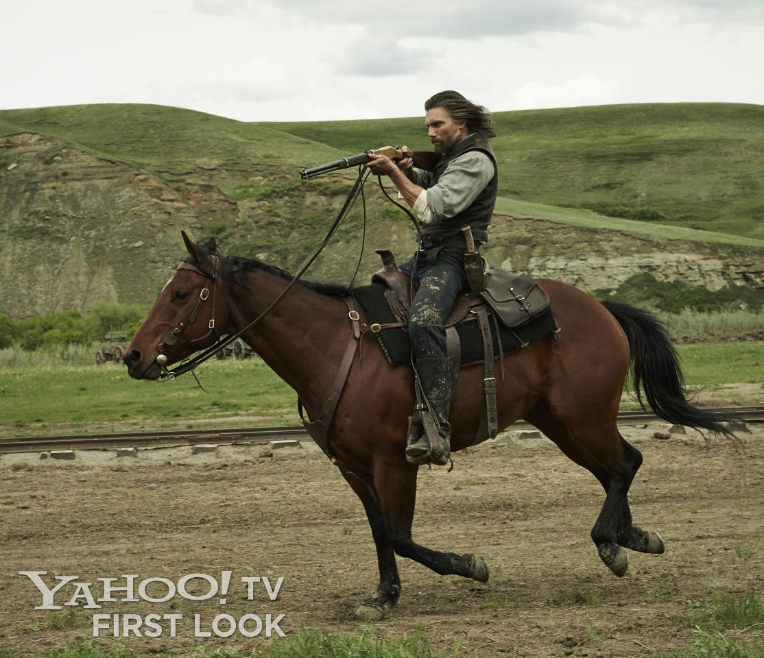 "Cullen Bohannon (Anson Mount) in AMC's ""Hell on Wheels"" Season 3."