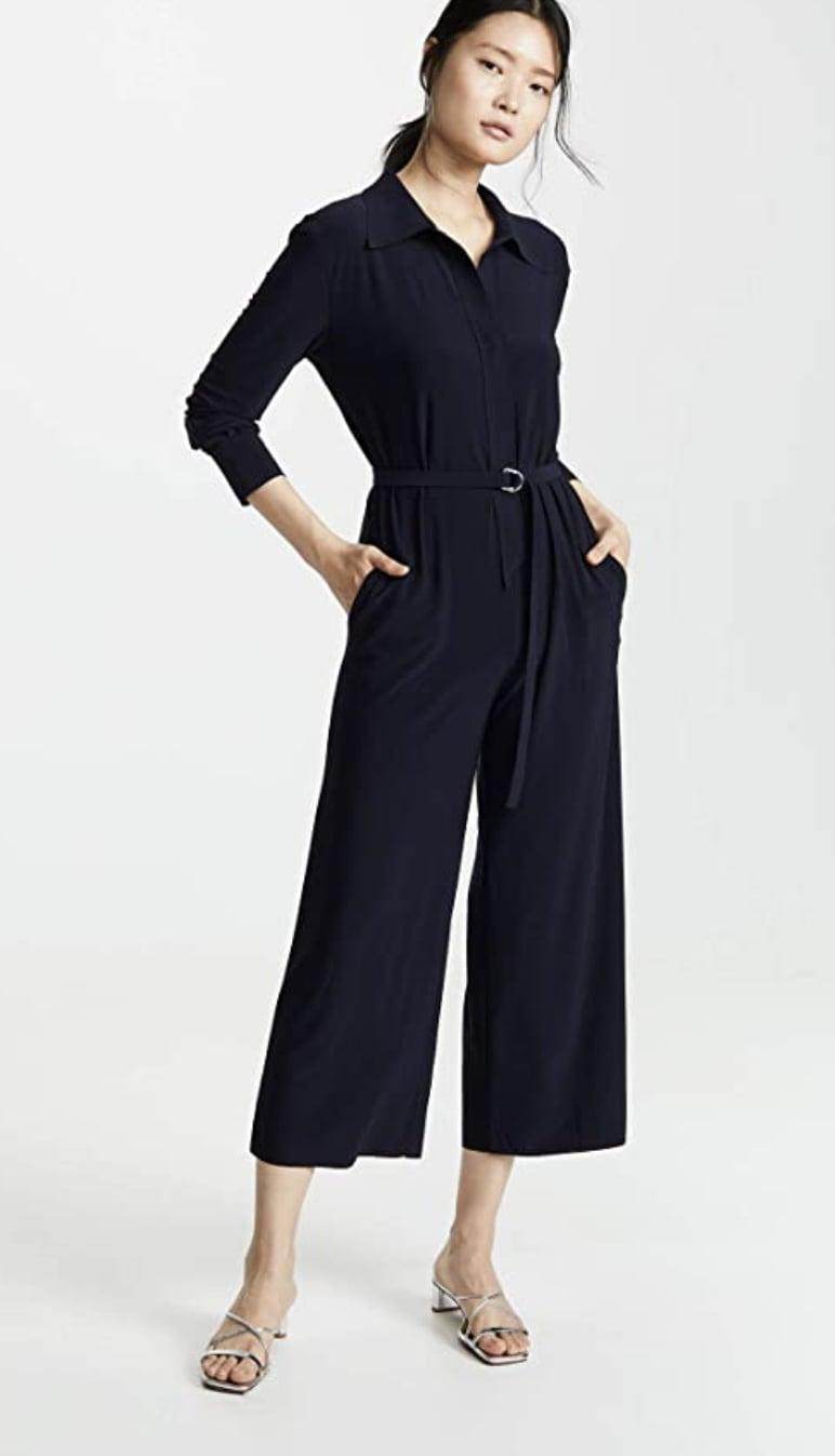 <p>There's a reason we're fans of Norma Kamali. The designer never fails to create comfortable, feminine, and elevated pieces with understated elegance. This <span>Norma Kamali Cropped Straight Leg Jumpsuit</span> ($102) is no exception, and we'll find every reason to wear it (airport, brunch, coffee run...you name it!)</p>