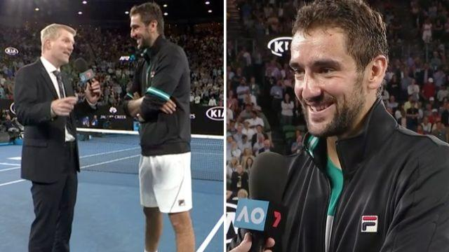 Courier and Cilic. Image: Channel 7