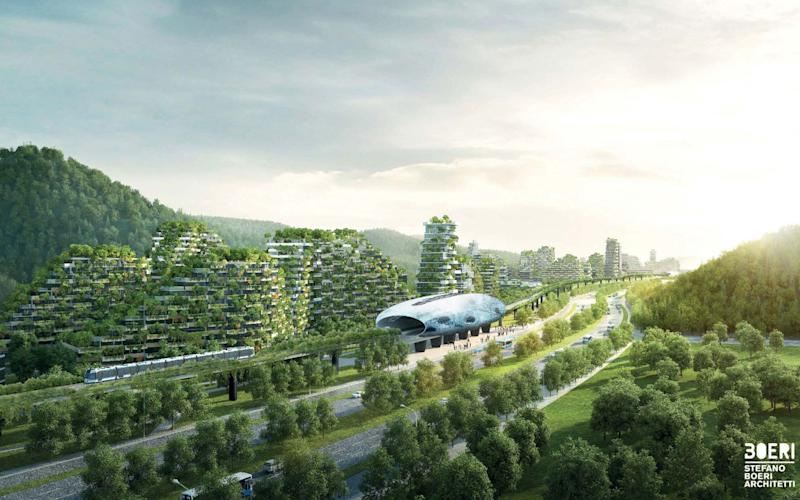 An artist's impression of Liuzhou Forest City in China - Stefano Boeri Architetti
