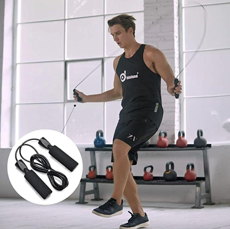 <p>They can get some quick workouts in with the <span> 4-in-1 AB Wheel Roller Kit AB Roller Pro with Push-Up Bar, Jump Rope and Knee Pad</span> ($20).</p>