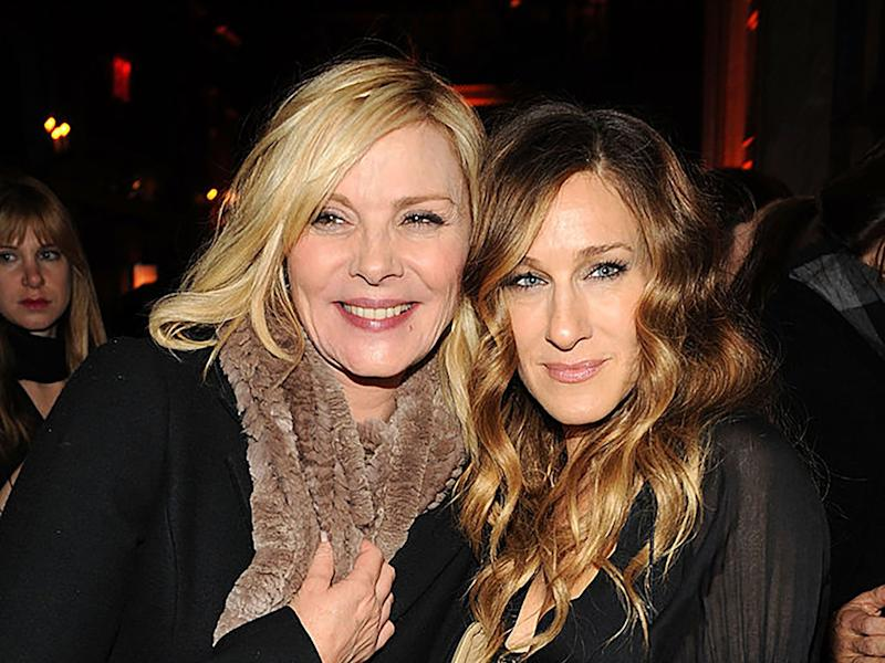 Kim Cattrall and Sarah Jessica Parker at a film premiere in 2009 (Bryan Bedder/Getty Images)