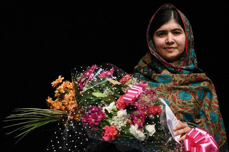 Pakistani activist Malala Yousafzai received the Nobel Peace Prize in 2014 for her work promoting children's rights (AFP Photo/OLI SCARFF)