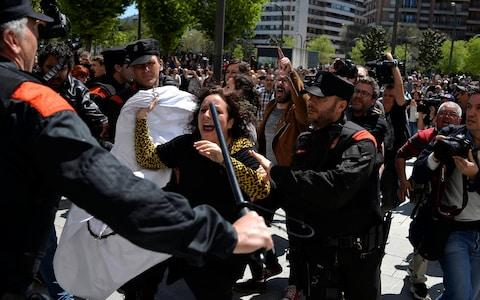 Protests across were planned across Spain for Thursday evening, including outside the justice ministry in Madrid as well as in Barcelona.   - Credit: Reuters