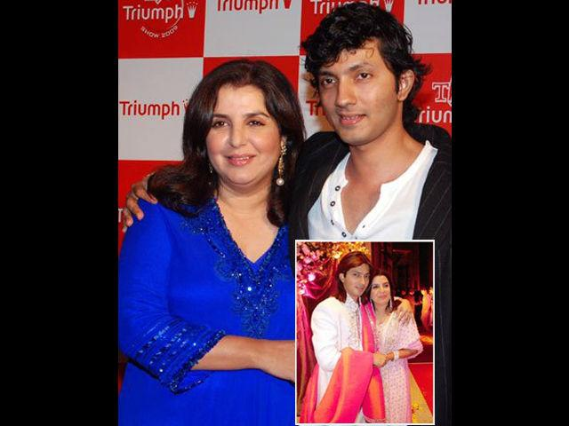 """<b>1. Shirish Kunder and Farah Khan</b><br> Film Editor turned Director (of mega-flops like Joker) Shirish Kunder is 8 years younger than his wife, Farah Khan. Shirish was the Editor of Farah's directorial debut Mai Hoon Naa. Their friendship on the sets soon changed into love. The society odds like 8-year age gap and different religions too couldn't stop these two love birds from being one. They got married in 2004 and are blessed with two daughters and a son. In Farah's words: """"I don't know if one is reborn or not, but if it were so, then I would like to marry Shirish in my second birth too."""""""