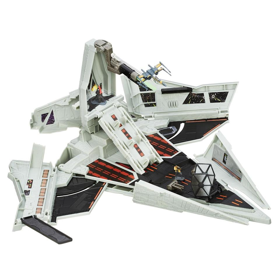 <p>This new 'Star Wars' Micro Machine case comes from Hasbro. It can house the new tiny toys. There are dozens of them!</p>