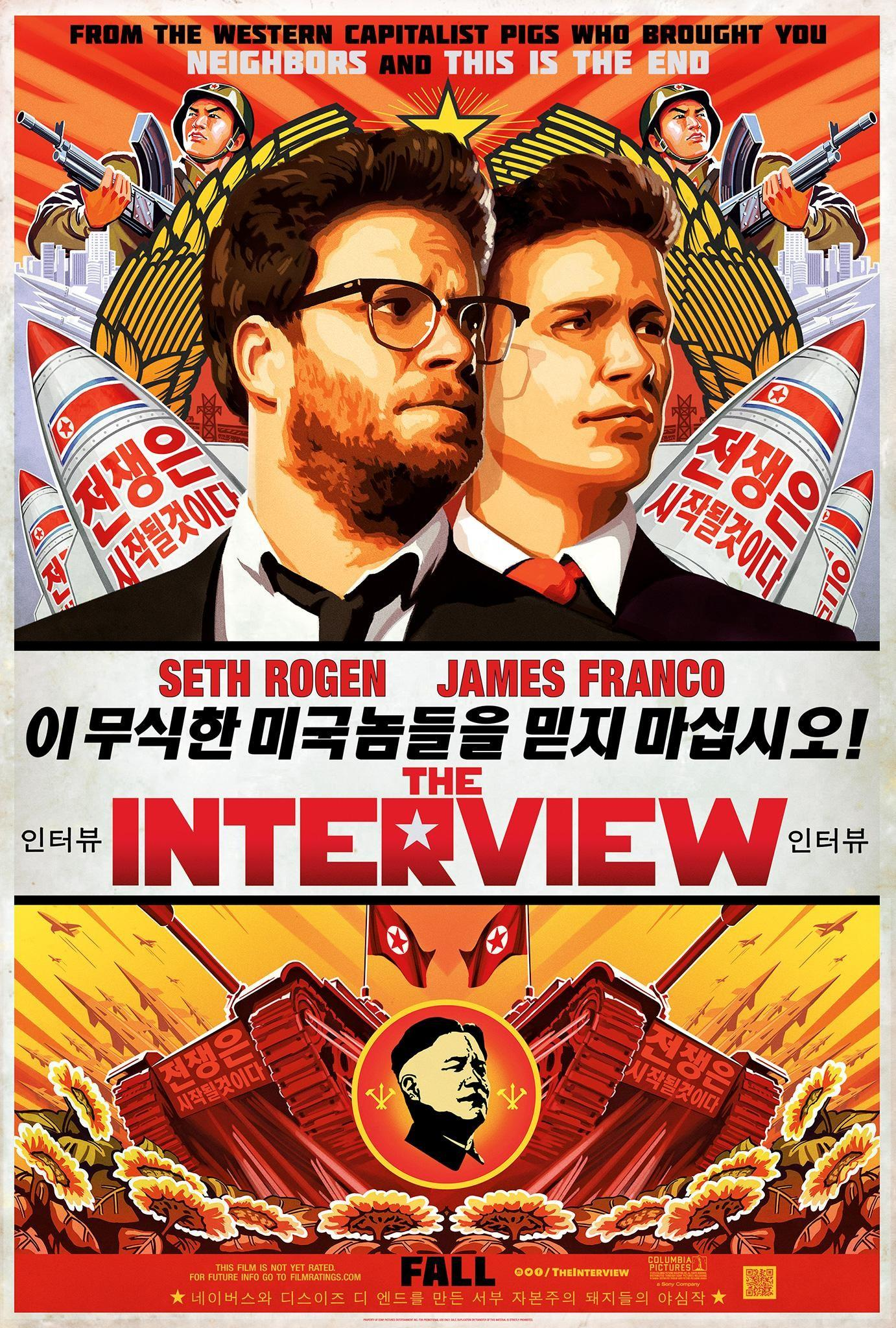 Seth Rogen and James Franco star in The Interview