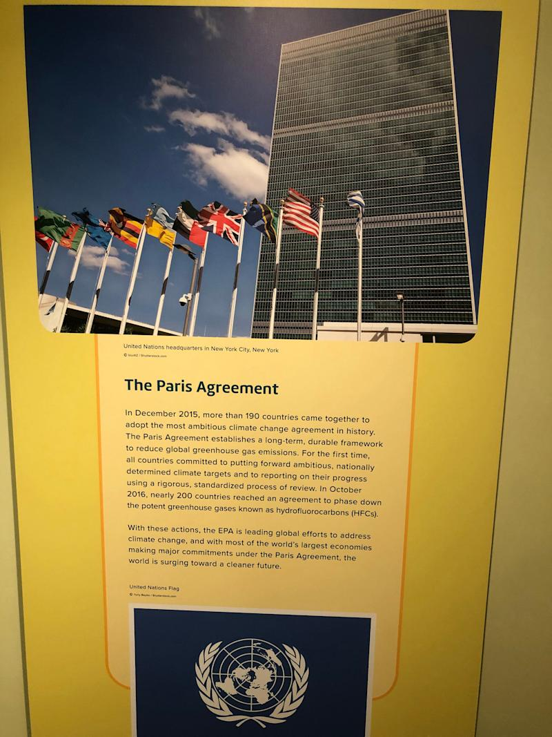 Inside the EPA museum in Washington, D.C. (Photo: Alexander Nazaryan/Yahoo News)