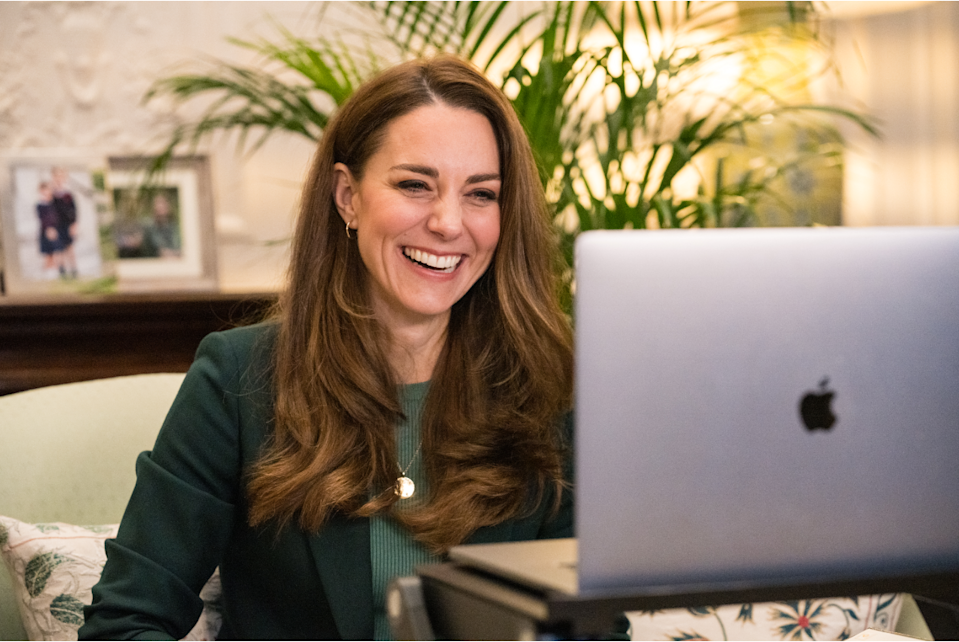 Kate shares a joke with parents during her video call (Kensington Palace/PA)