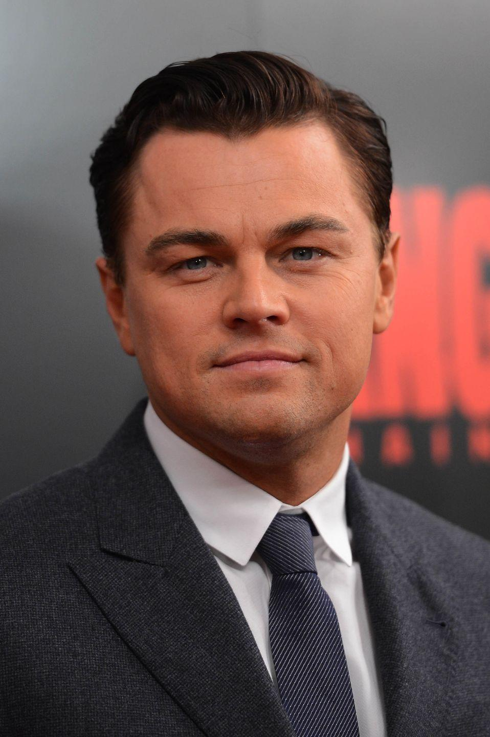 <p>While the amount of facial hair DiCaprio wears ebbs and flows, he's rarely rocked a clean shaven look since his younger days.</p>