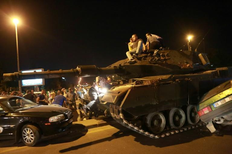 Crowds and soldiers faced off in major Turkish cities including capital Ankara during the 2016 coup attempt