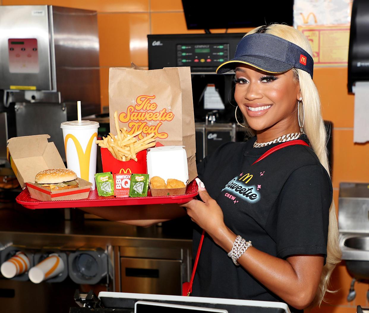 Saweetie celebrates the launch of her signature order at McDonald's.