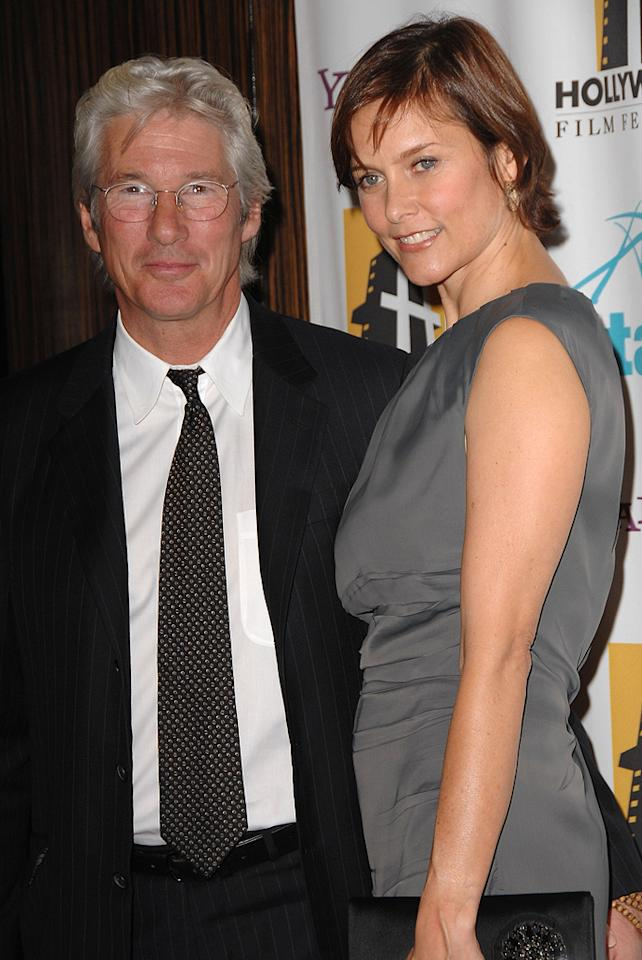 "<a href=""http://movies.yahoo.com/movie/contributor/1800017075"">Richard Gere</a> and Cary Lowell at the Hollywood Film Festival's Hollywood Awards in Beverly Hills - 10/22/2007"