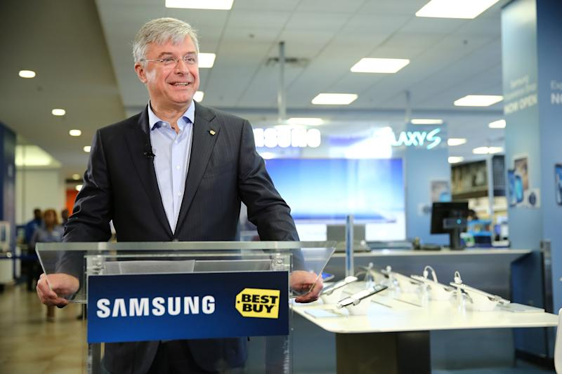Hubert Joly just got the job done at Best Buy. Bottom line. (Photo by Neilson Barnard/Getty Images for Samsung)