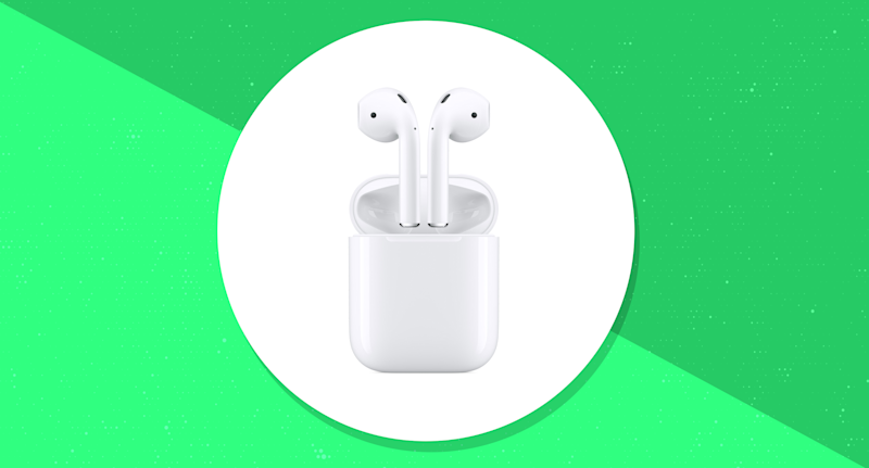 Save 29 bucks on the elegant standard Apple AirPods. (Photo: Apple)