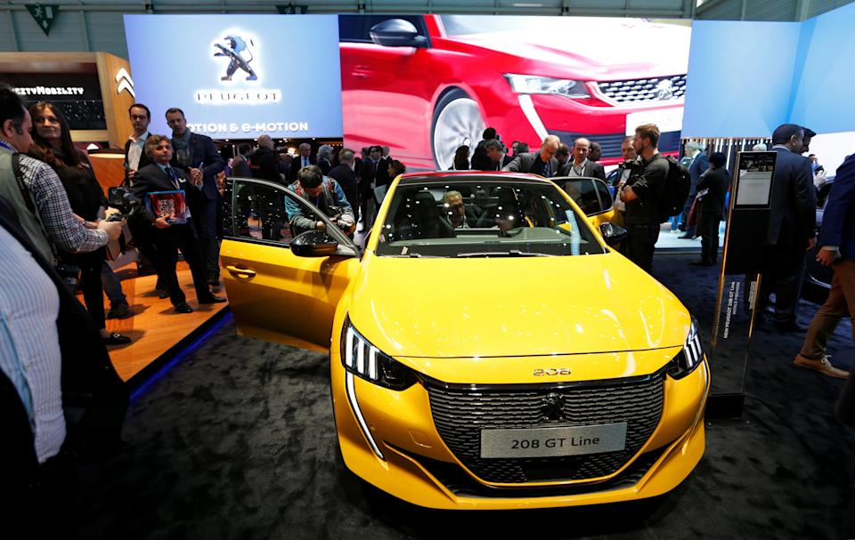 The new Peugeot 208 GT is displayed at the 89th Geneva International Motor Show in Geneva, Switzerland March 5, 2019. REUTERS/Denis Balibouse