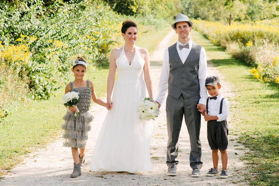 Author Eden Strong with her family