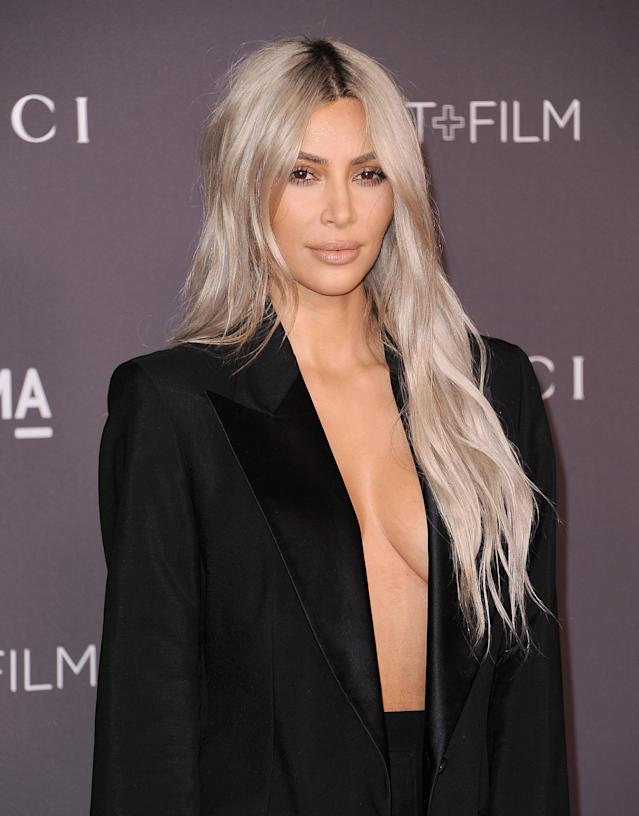 Kim Kardashian attends the 2017 LACMA Art + Film gala at LACMA on Nov. 4 in Los Angeles. (Photo: Getty Images)