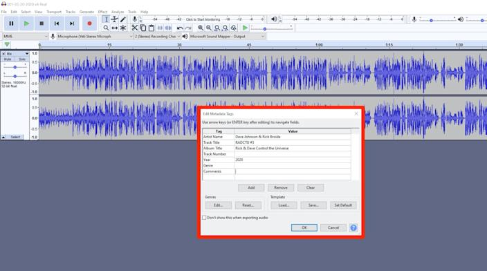This metadata may be visible in certain audio apps.