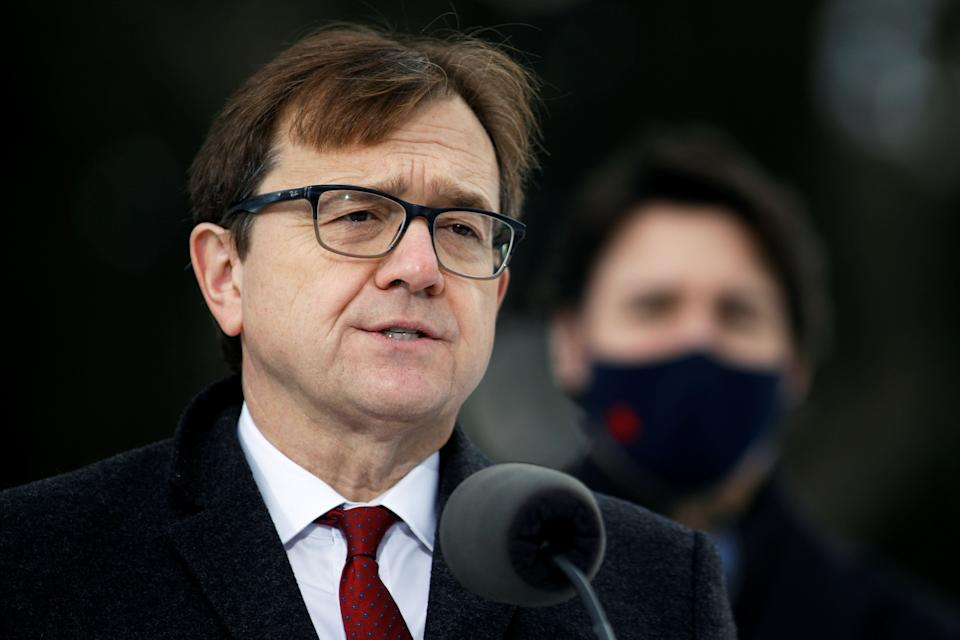 Canada's Minister of the Environment and Climate Change Jonathan Wilkinson attends a news conference at the Dominion Arboretum in Ottawa, Ontario, Canada December 11, 2020. REUTERS/Blair Gable (Photo: Blair Gable / Reuters)